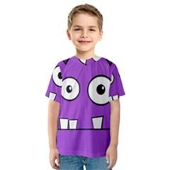 Halloween Frankenstein - Purple Kid s Sport Mesh Tee