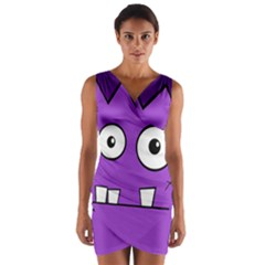Halloween Frankenstein - Purple Wrap Front Bodycon Dress