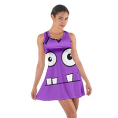 Halloween Frankenstein   Purple Cotton Racerback Dress