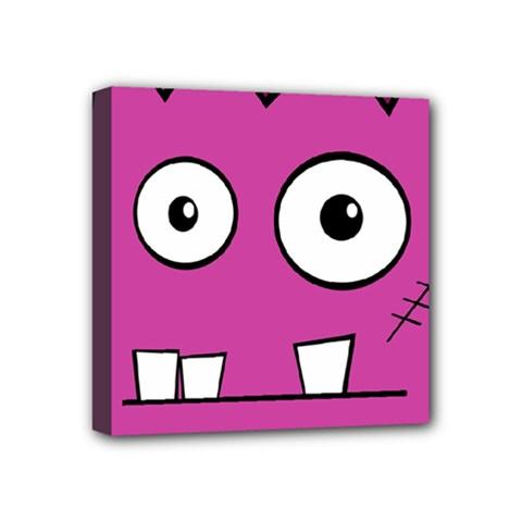 Halloween Frankenstein - pink Mini Canvas 4  x 4