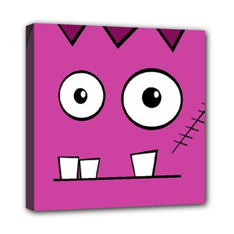 Halloween Frankenstein - pink Mini Canvas 8  x 8