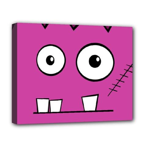 Halloween Frankenstein - pink Deluxe Canvas 20  x 16