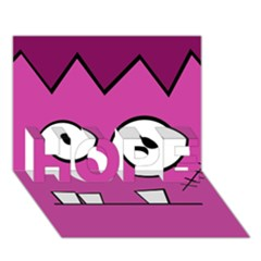 Halloween Frankenstein - pink HOPE 3D Greeting Card (7x5)