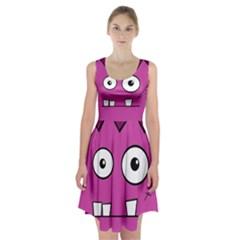 Halloween Frankenstein - pink Racerback Midi Dress