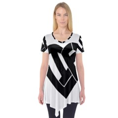 Lift Heart Black Short Sleeve Tunic