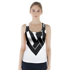Lift Heart Black Racer Back Sports Top