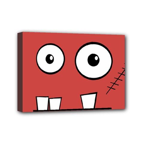 Halloween Frankenstein - Red Mini Canvas 7  x 5