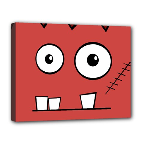 Halloween Frankenstein - Red Canvas 14  x 11