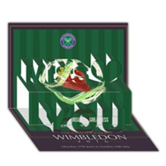 Wimbledon 2016  Miss You 3D Greeting Card (7x5)