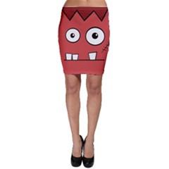 Halloween Frankenstein - Red Bodycon Skirt