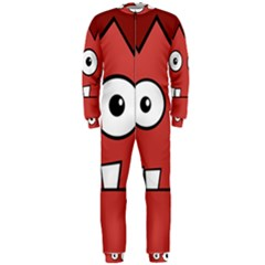 Halloween Frankenstein - Red OnePiece Jumpsuit (Men)