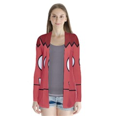 Halloween Frankenstein - Red Drape Collar Cardigan
