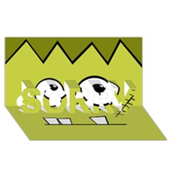 Halloween Frankenstein -Yellow SORRY 3D Greeting Card (8x4)