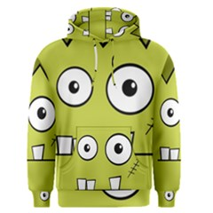 Halloween Frankenstein -Yellow Men s Pullover Hoodie