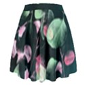 Modern Green and Pink Leaves High Waist Skirt View2