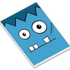 Halloween Frankenstein - Blue Large Memo Pads
