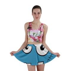 Halloween Frankenstein - Blue Mini Skirt