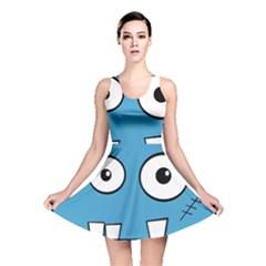 Halloween Frankenstein - Blue Reversible Skater Dress