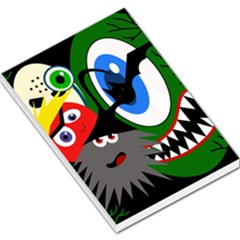 Halloween monsters Large Memo Pads