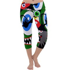 Halloween monsters Capri Yoga Leggings