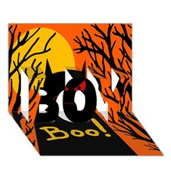 Halloween monster BOY 3D Greeting Card (7x5)