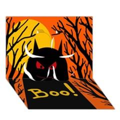 Halloween monster Clover 3D Greeting Card (7x5)