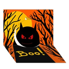 Halloween monster Circle 3D Greeting Card (7x5)