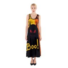 Halloween Monster Sleeveless Maxi Dress