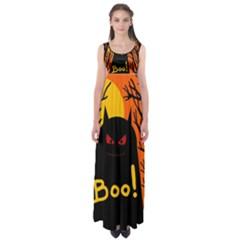 Halloween monster Empire Waist Maxi Dress