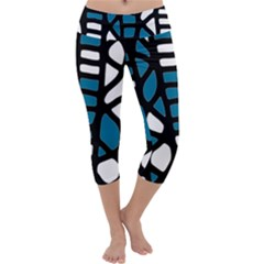Blue decor Capri Yoga Leggings