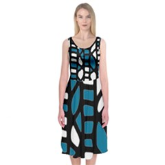 Blue decor Midi Sleeveless Dress