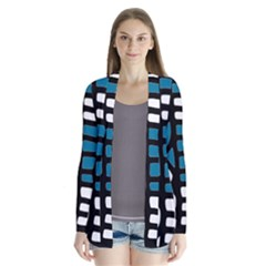 Blue decor Drape Collar Cardigan