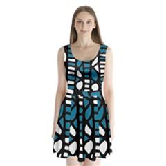 Blue decor Split Back Mini Dress