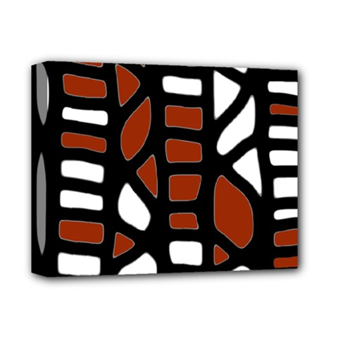 Red decor Deluxe Canvas 14  x 11