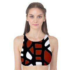 Red decor Tank Bikini Top