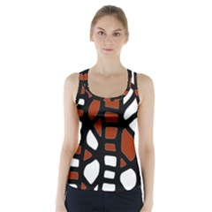 Red Decor Racer Back Sports Top