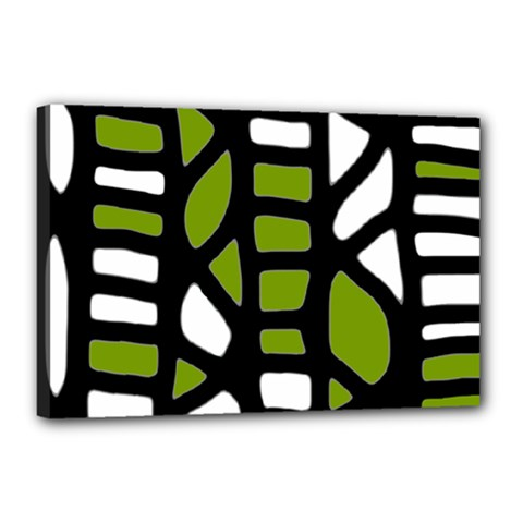 Green decor Canvas 18  x 12