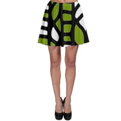 Green decor Skater Skirt