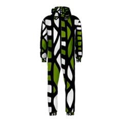 Green decor Hooded Jumpsuit (Kids)