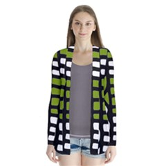 Green decor Drape Collar Cardigan