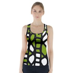 Green decor Racer Back Sports Top