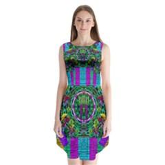 Queen Of The Light Sleeveless Chiffon Dress