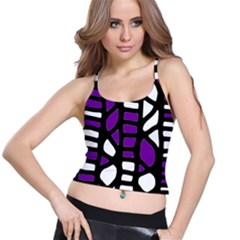 Purple decor Spaghetti Strap Bra Top