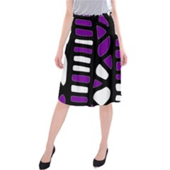 Purple decor Midi Beach Skirt
