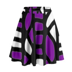 Purple decor High Waist Skirt