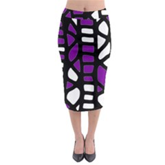 Purple decor Midi Pencil Skirt