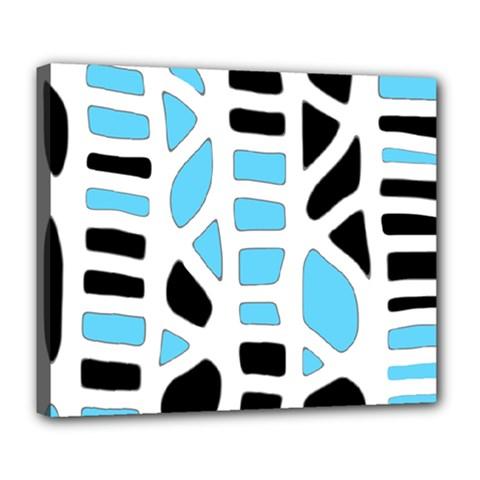 Light blue decor Deluxe Canvas 24  x 20