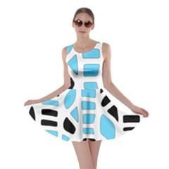 Light blue decor Skater Dress
