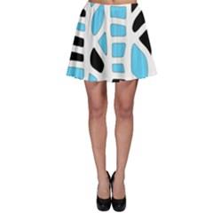 Light blue decor Skater Skirt