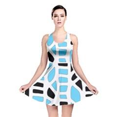 Light blue decor Reversible Skater Dress